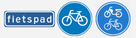 verkeersborden fietspad