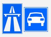 verkeersbord snelweg autoweg